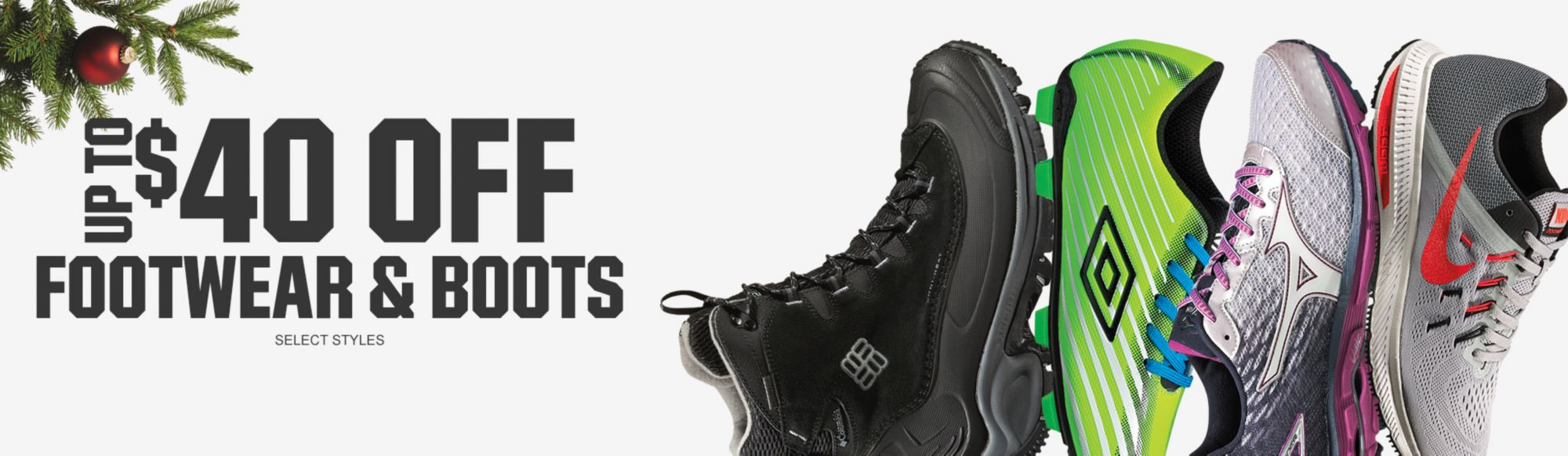 Shop $40 Off Select Footwear