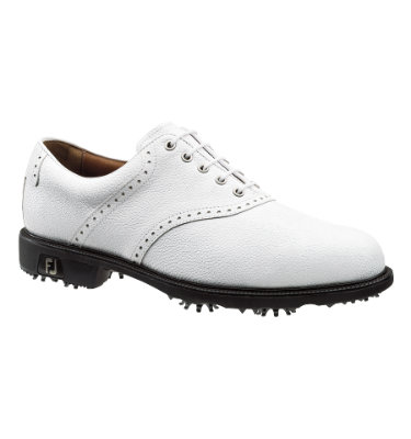 FootJoy Men's Icon Saddle Golf Shoe - White
