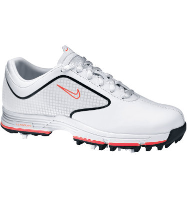 Nike Women's Lunar Links Golf Shoes - White/Pink (Disc Style 418376-161)