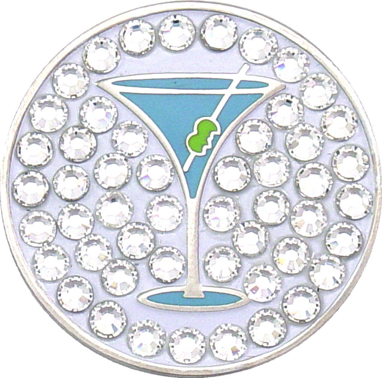 Bella Women's Martini Crystal Hat Clip Ball Marker