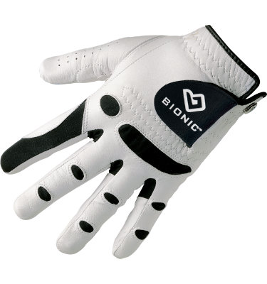 Bionic Men's StableGrip Golf Glove - White