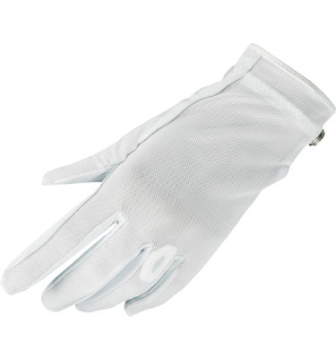 Lady Classic Women's Solar Nail & Ring Golf Glove - White