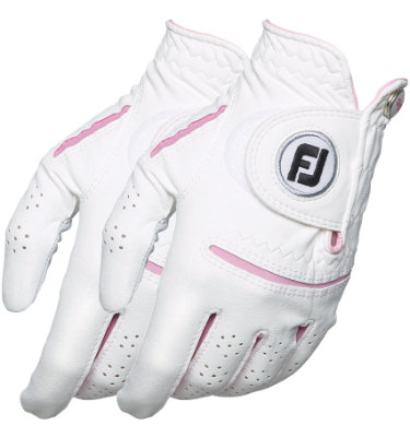 FootJoy Women's WeatherSof 2-Pack Golf Glove - White/ Pink
