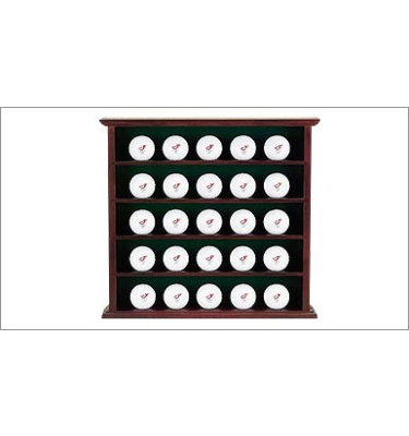 Golf Galaxy 25 Ball Cabinet - Mahogany Stain