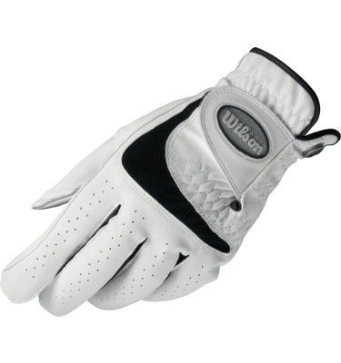 Wilson Men's Sure Fit Golf Glove - White/ Black