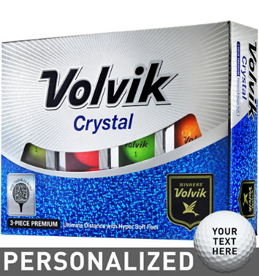 Volvik Crystal Assorted Golf Balls - 12 pack (Personalized)