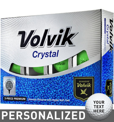 Volvik Crystal Green Golf Balls - 12 pack (Personalized)