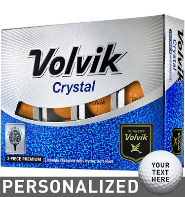 Volvik Crystal Orange Golf Balls - 12 pack (Personalized)