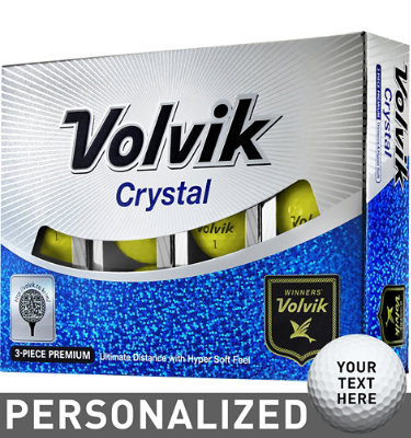 Volvik Crystal Yellow Golf Balls - 12 pack (Personalized)