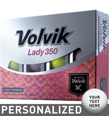 Volvik Women's Lady 350 Pink/Yellow Golf Balls - 12 pack (Personalized)
