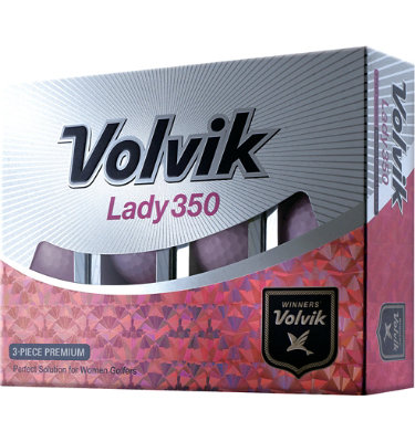 Volvik Women's Lady 350 Pink Golf Balls - 12 pack (Personalized)
