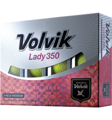 Volvik Women's Lady 350 Yellow Golf Balls - 12 pack (Personalized)