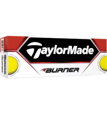 TaylorMade Burner Yellow Golf Balls - 12 pack (Personalized)