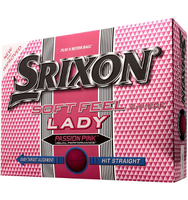 Srixon Women's Soft Feel Lady Pink Golf Balls - 12 pack (Personalized)