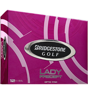 Bridgestone Lady Precept Optic Pink Golf Balls - 12 pack (Personalized)