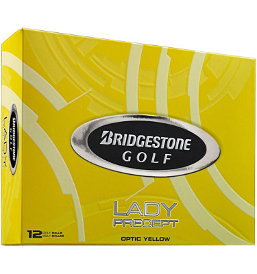 Bridgestone Lady Precept Optic Yellow Golf Balls - 12 pack (Personalized)