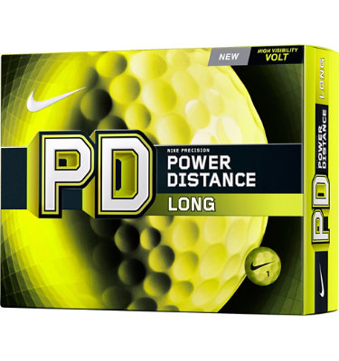 Nike PD Long Volt Yellow Golf Balls - 12 pack (Personalized)