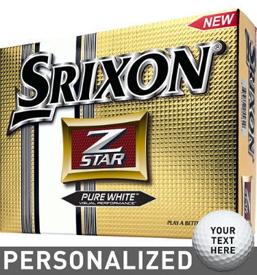 Srixon Z-Star Golf Balls (ZStar 3) - 12 pack (Personalized)
