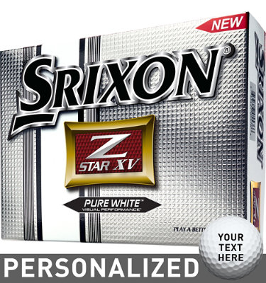 Srixon Z-STAR XV Golf Balls (ZStar 3) - 12 pack (Personalized)