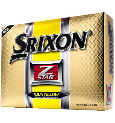 Srixon Men's Z-STAR Tour Yellow Golf Balls - 12 pack (Personalized)