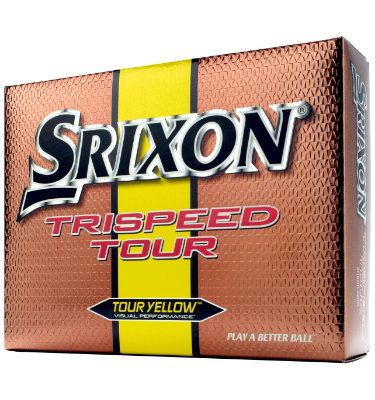 Srixon TriSpeed Tour Yellow Golf Balls - 12 pack (Personalized)