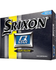 Srixon Q-Star Tour Yellow Golf Balls - 12 Pack (Personalized)