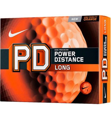 Nike PD Long Orange Golf Balls - 12 pack (Personalized)