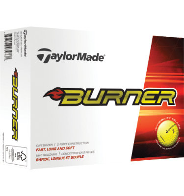 TaylorMade Burner Yellow Golf Balls (2014) - 12 pack (Personalized)