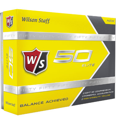 Wilson Staff Fifty Elite Yellow Golf Balls - 12 pack (Personalized)