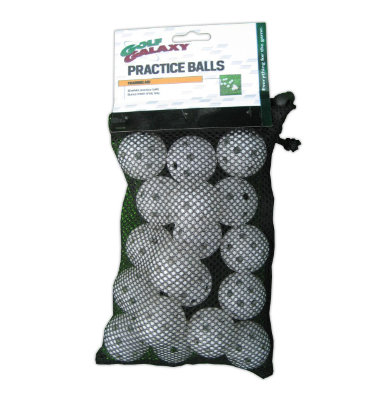 Golf Galaxy Practice Balls 18 - White - Holes