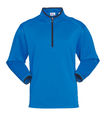 Slazenger Men's Quarter Zip Long Sleeve Polo