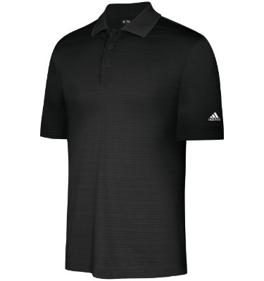 adidas Men's Textured Solid Short Sleeve Polo