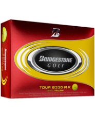 Bridgestone Tour B330-RX Golf Balls - 12 pack (Yellow)