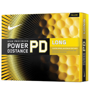 Nike Men's Power Distance Long Yellow Golf Balls 2011 - 12 pack