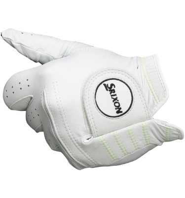 Srixon Z-STAR Premium Cabretta Golf Glove - White/ Yellow (Disc Style-Multiple)