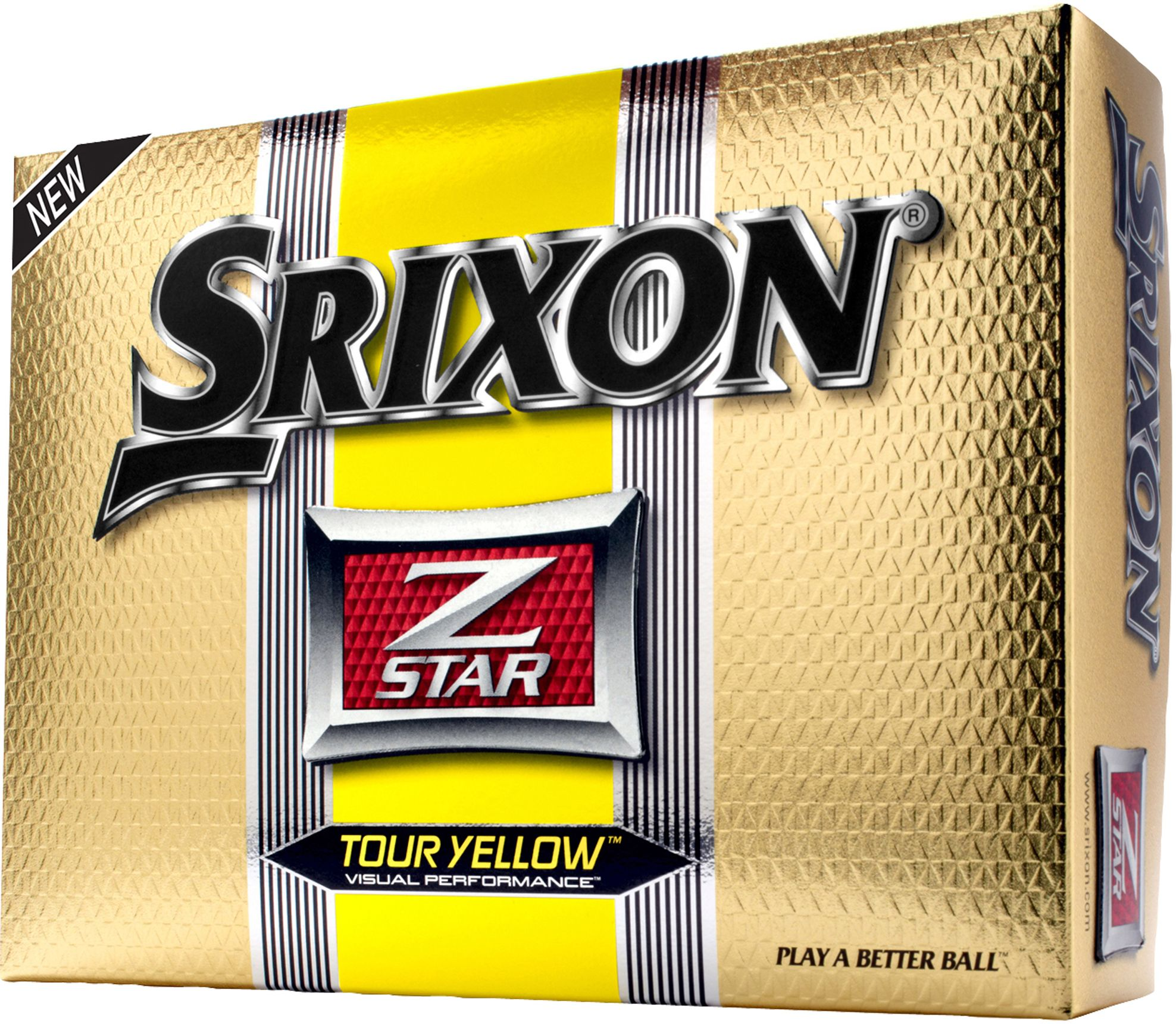 Srixon Men's Z-STAR Tour Yellow Golf Balls - 12 pack