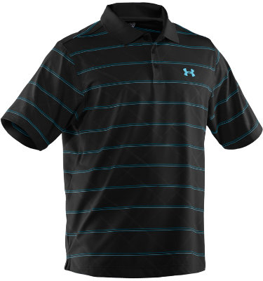 Under Armour Men's Embossed Stripe 2.0 Short Sleeve Polo