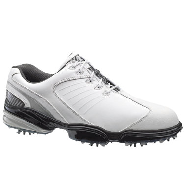 FootJoy Men's Sport Series Golf Shoe -  White smooth/Black/Silver (Disc Style 53102)