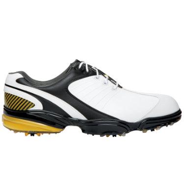 FootJoy Men's Sport Series Golf Shoe - White Smooth/Black & Yellow