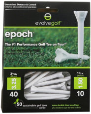 "Evolve Golf Epoch 3 1/4"" White Golf Tees - 50 Count"