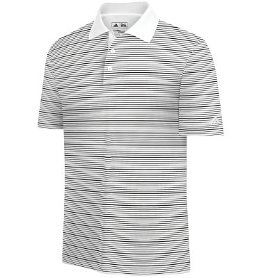 adidas Men's ClimaLite Two-Color Short Sleeve Stripe Polo