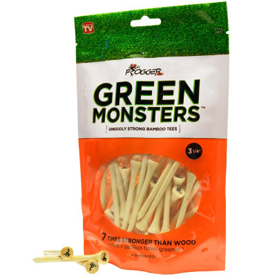 Frogger Green Monsters 3 1/4 Golf Tees - 50 pack