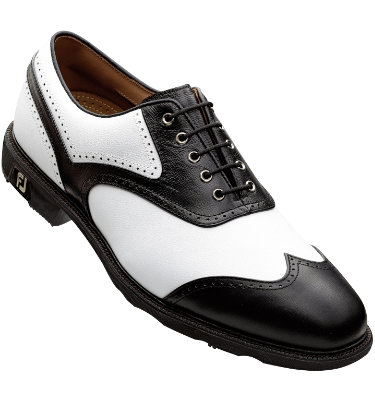 FootJoy Men's ICON Golf Shoe - White/Black FootJoy Men's Icon Golf Shoe – White/Black (Disc Style 52262)