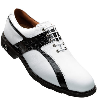 FootJoy Men's ICON Golf Shoe - White/Black Croc