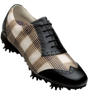 FootJoy Women's LoPro Golf Shoe – Black Taupe/Brown Plaid