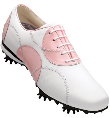 FootJoy Women's LoPro Golf Shoe - White/Pink Dots (Disc Style 97125)