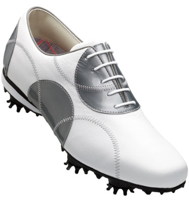 FootJoy Women's LoPro Golf Shoe - White/Silver Dots (Disc Style 97075)
