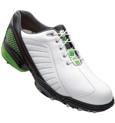 FootJoy Men's Sport Golf Shoe - White/Black/Lime