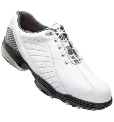 FootJoy Men's Sport Golf Shoe - White/Silver (Disc Style 53197)