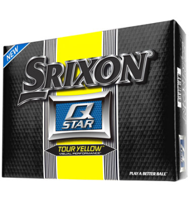 Srixon Q-STAR Yellow Golf Balls - 12 pack